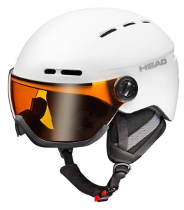 HEAD KASK KNIGHT PRO + SPARELENS  WHITE R17