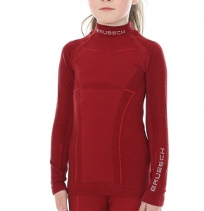 BRUBECK THERMO JUNIOR GÓRA LADY ACTIVE WOOL  BORDO R17