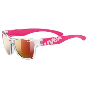 okulary Sportstyle 508 UVEX  clear pink MIRROR RED S3
