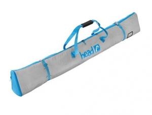 HEAD FREERIDE SINGLE SKIBAG GREY/BLACK/BLUE 185CM R17
